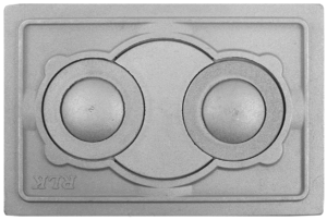 Плита печная с двумя отверстиями для конфорок №1, 2, вставка П2-8/2 — П2-7В