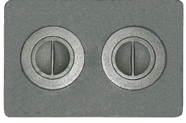 Плита с двумя отверстиями для конфорок №1, 2 — П2-7