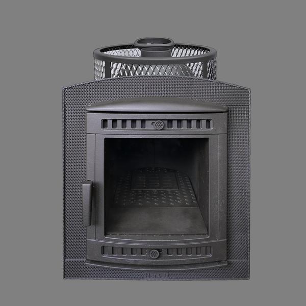Банная печь Прометалл Атмосфера с сеткой из нержавейки до 22 куб.м.