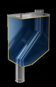 Бак самоварного типа со смещенной трубой на 70 л (Теплодар)